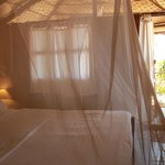 Clean huts with mosquito nets