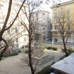 View of the piazza from our window