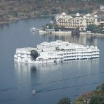 Lake Palace Hotel from top of ropeway