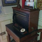                    The reception with an antique switchboard.