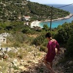 behind Villa Fio, path to the quiet beach