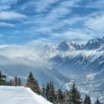 View from Les Houches ski area minutes from Hotel du Bois
