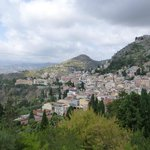 View from the stairs down to the town of Taormina itself...