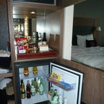  Executive room minibar and safe