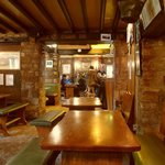 The cosy interior of the Snowshill Arms