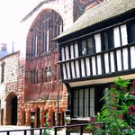Medieval St Mary's Guildhall from Bayley Lane