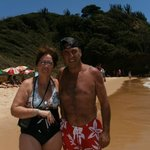                    con mi marido en la playa Tartaruga