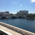 View from Riverwalk in Tampa