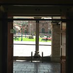  Looking out of lobby to Plaza de Armas
