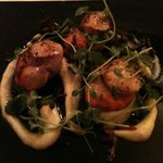                    A superb starter of scallops