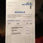                    Precios minibar