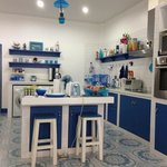                    Greece design kitchen inspired by host&#39;s traveling experience, luv it
