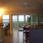 View of beach from kitchen area.