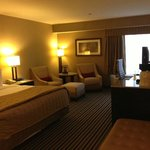 Guest rooms are roomy and well-appointed.