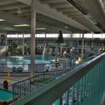                                      The indoor pool and recreation area.
