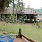                    View of the cafe from the bungalow