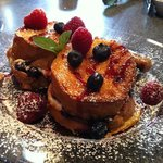 Blueberry/Raspberry Stuffed French Toast
