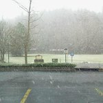 Snowing in Helen 02/2013 view from parking lot