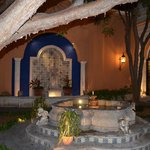                    Front courtyard by night