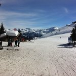                    Sunny day on the piste.