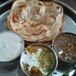                   Special mini parantha thali... 2 Lachhear paranthe, maa ki dal, paneer and rai