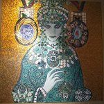 Pretty mosaic in lobby.