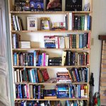 Library in the common room.