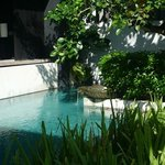                    the pool area in our villa