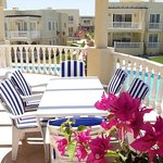 Some properties have huge balconies and fantastic sea views