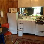 kitchen in our room was very cute and clean.
