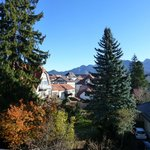                    View from balcony with German Alps in background