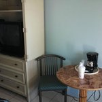                    tv and coffee maker
