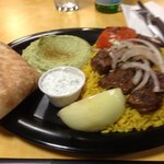                    Lamb kabob, hummus,rice pilaf