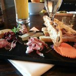 Charcuterie board with a great Epic brew.