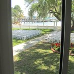                    View from the bridal suite