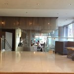 View of bar from lobby lounge seats