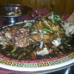 Whole Snapper with Black Bean Sauce - soo tasty
