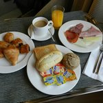 Continental breakfast room service - a birthday treat