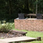 The bbq area in the grounds