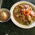 Marti's yellow curry with shrimp