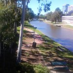 Parramatta river in town center .You can walk to the river from the hotel