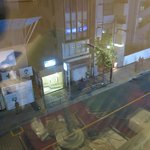                                      A view from my window of the street at night.