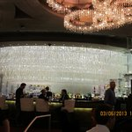Chandelier over the bar
