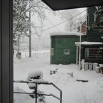 View out the front door on a powder day, 14th January 2013!
