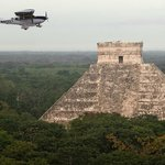 Chichen itzá by airplane, Equinox 2013