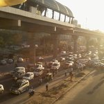                                      Chaos at peak hours : View from Sikanderpur Metro Station