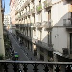 Looking from Balcony down Carrer Jovellanos