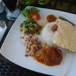 nasi campur bali for lunch