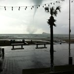                   A Tornado on the beach Thursday 28th Feb