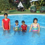                    kids in pool